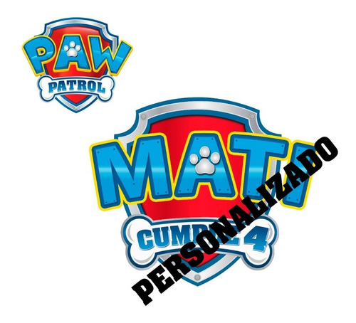 Logo Paw Patrol Personalizado Para Imprimir Digital