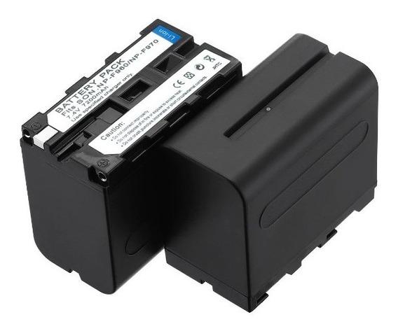 2 Bateria Np- F970 7200mah + Carregador Usb