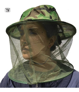 Sombrero Apicultor Malla Velo Anti Mosquitos Anti Enjambre