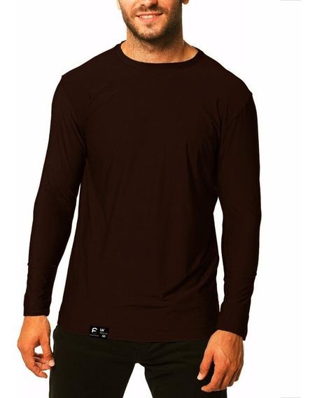 Camiseta Masculina Proteção Solar Line Ice Tecido Gelado Uv