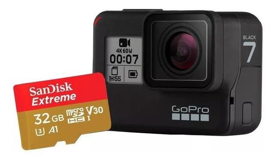 Câmera Gopro Hero 7 Black + Cartão 32gb Extreme Original