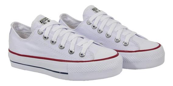 Tênis All Star Converse Plataforma Clássico Branco Lindo !!!