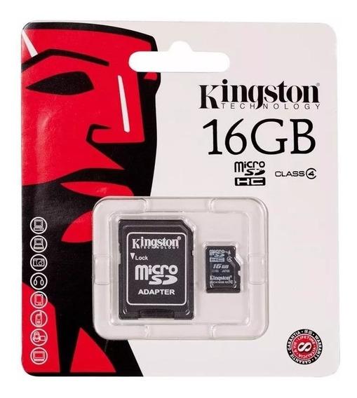 Cartão Memória Micro Sd 16gb Nota Fiscal Original Kingston