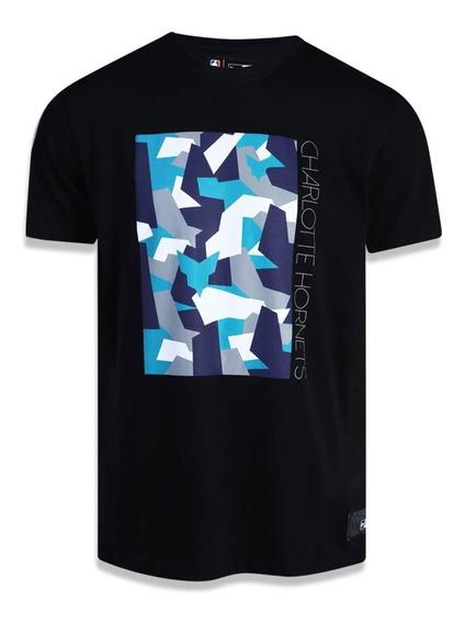 Camiseta New Era Charlotte Hornets - Preta- Masculino