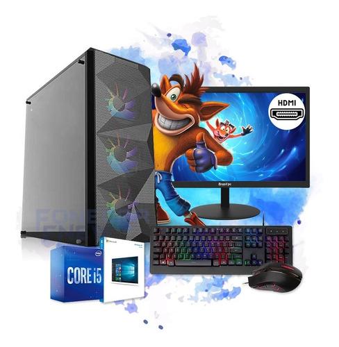 Imagem 1 de 5 de Pc Gamer Completo I5 8gb Ssd 240gb Hd500 Placa De Video R5