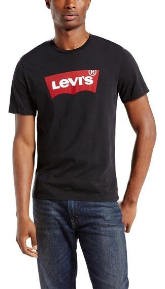 Camiseta Levis Masculina Logo Batwing Classic Preta