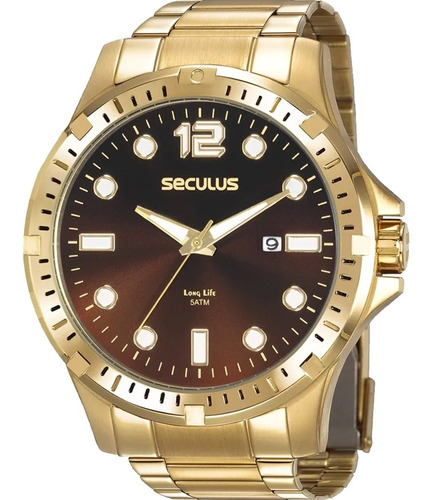 Relógio Masculino Seculus Long Life 20800gpsvda2