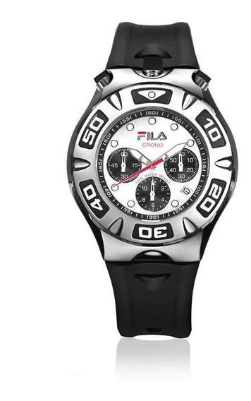 Relógio Fila Masculino Cronógrafo Pulseira Silicone Fl316-02