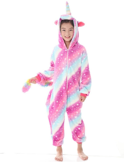 Pijama Kigurumi Unicornio Infantil Nena Estrellas Multicolor