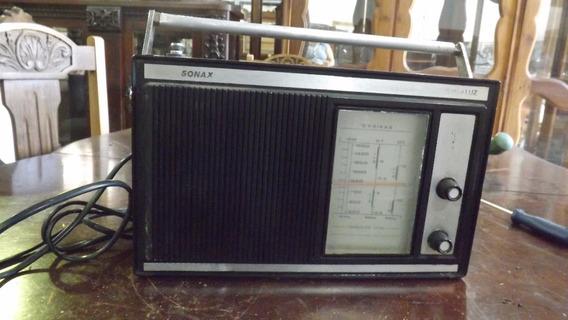 Rádio Antigo Sonax Portátil # 3889