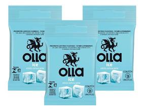 Olla Preservativo Camisinha Ice 3uni. Com 3 Packs