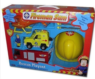 Bombero Sam Friction Jupiter Fire Engine Rescue Playset Incl