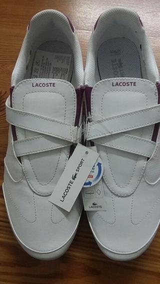 Zapatillas Lacoste Blancas Con Abrojo 41