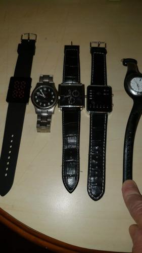Kit 5 Relógios Usados Bom Estado, Precisa Trocar As Baterias