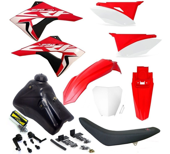 Kit Carenagem Elite Crf 230 Tanque Gasolina Number Next 2010