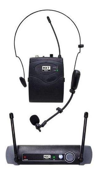 Microfone sem fio MXT UHF-10BP direcional preto