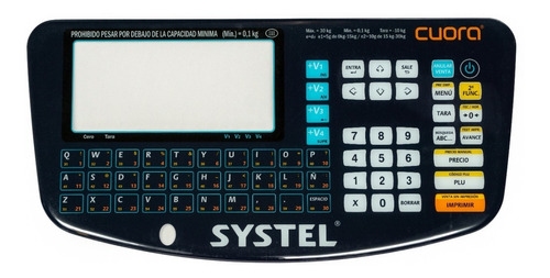 Imagen 1 de 5 de Mascara Panel Teclado Balanza Systel Cuora Service Delta