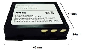 Bateria 1500mah 7.4v P/ Mini Impressora Bluetooth Term 58mm