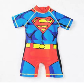 Traje De Baño Niño Super Héroes Superman/spiderman/capitan