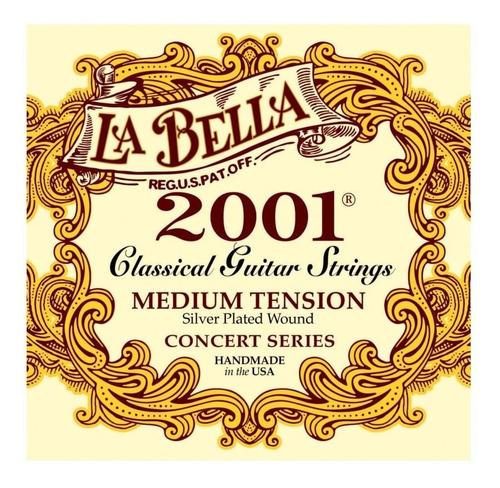 Encordado Guitarra Clasica La Bella 2001 Medium Tension