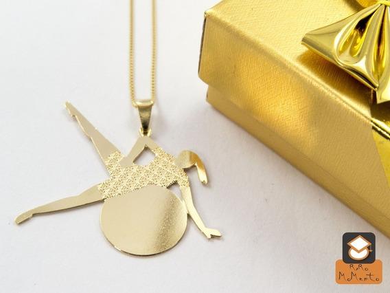 Colar Pilates - Folheado Em Ouro (garantia 1 Ano)