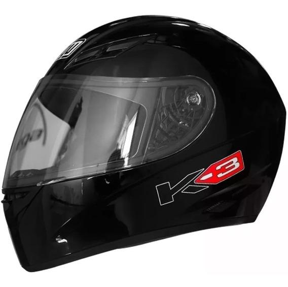 Casco Agv K-3 Basic Black Agv K3 Hot Sale Envio Cordasco