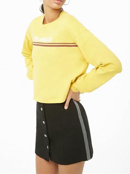 Falda Corta Negra. Black Skirt Forever 21 Talle L .importada