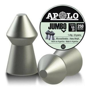 Balines Apolo Jumbo X250 5.5 - Aire Comprimido - Hay Crosman