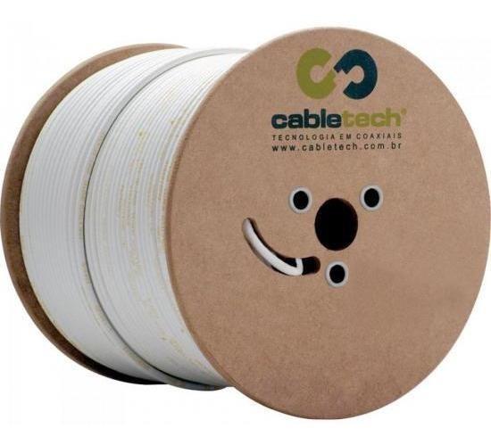 Cabo Antena/tv Coaxial Rg59 67%malha Cabletech Bobina 305mts
