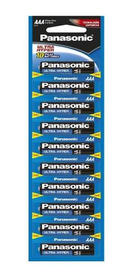 Pila Panasonic Carbon Zinc Azul Aaa Tira C/10