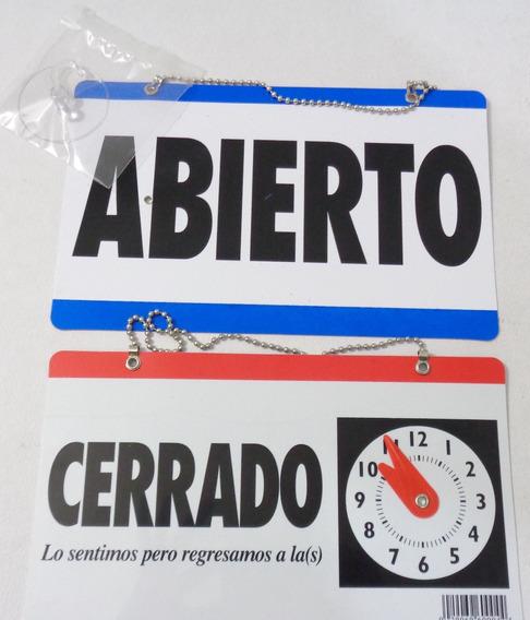Letrero Abierto/cerrado Para Negocio Tienda Estética Horario