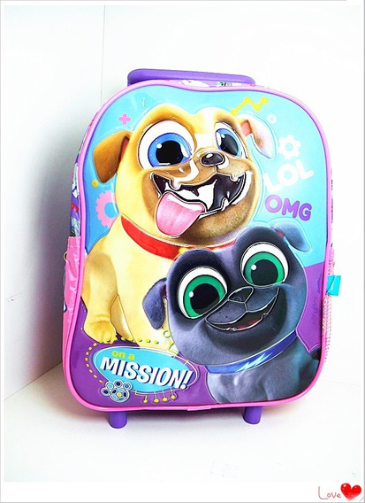Mochila Carro 12 Jardin Puppy Dog Pals Original Disney