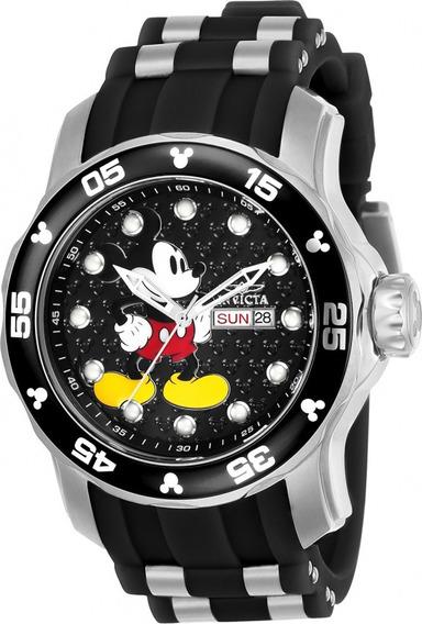 Relógio Disney Mickey Invicta Preto Original Promoção