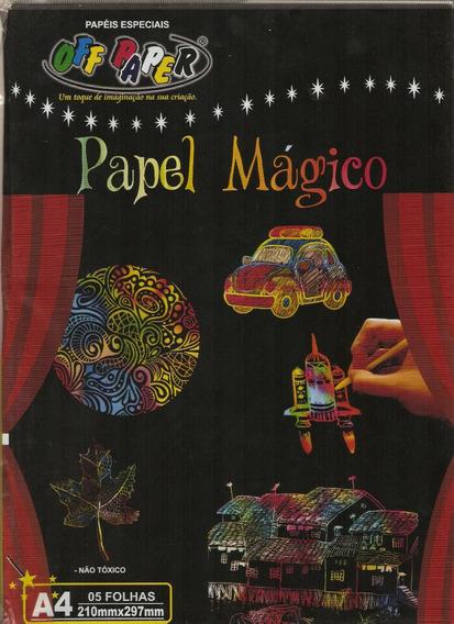 Papel Magico Colorir Off Paper A 4 Com Bastão 5 Folhas