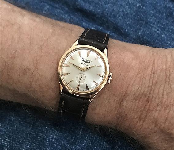 Relógio Ouro 18k Maciço Longines Automatico 14 Anos No M. L.