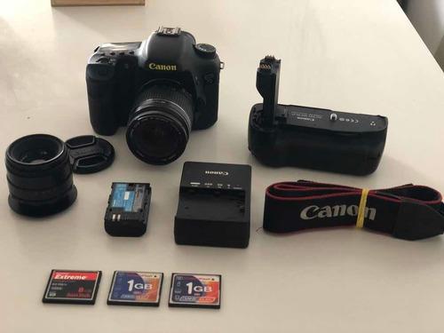 Câmera Canon 7d + Acessórios + 2 Lentes