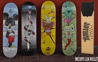 Tablas De Skate C1rca Con Lija Bullet Incluida