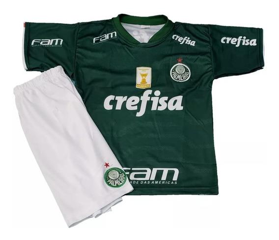 Uniforme Palmeiras Infantil Camisa + Calção Super Promoção