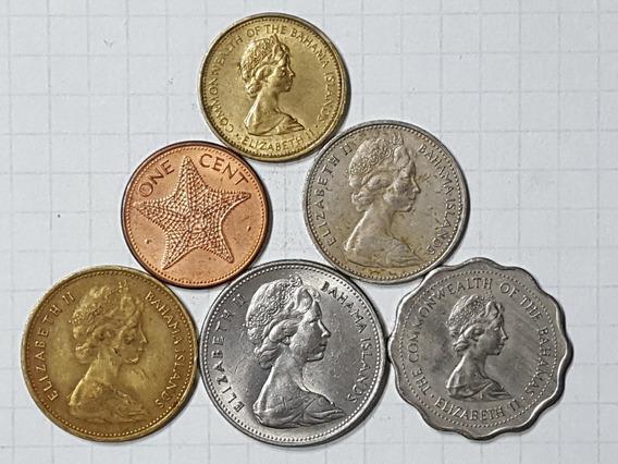 Bahamas Colección 6 Monedas Diferentes