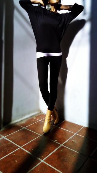 Remera Mujer Corte Murciélago Talles Reales Caro-r