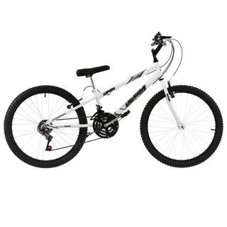 Bicicleta Aro 24 18 Marchas Ultra Bikes Rebaixada Branco