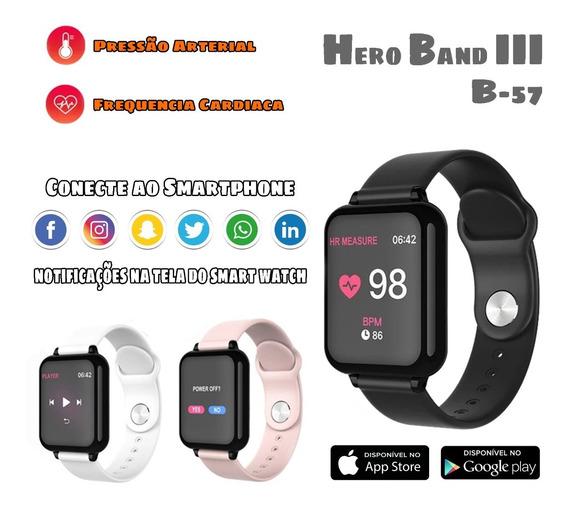 Smart Watch B57 Hero Band 3 Pressão Arterial E Cardiaca