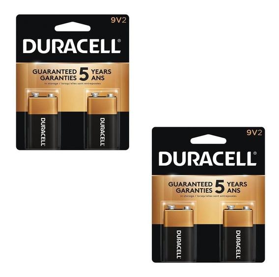 Kit Com 4 Baterias 9v Alcalina Duracell - 2 Cartelas