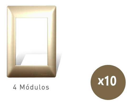Imagen 1 de 5 de Tapa 4 Modulos Champagne Siglo Xxii 4604 Cambre X10