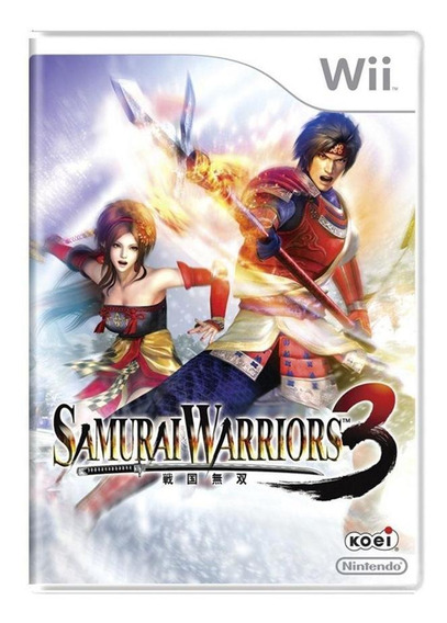 Samurai Warriors 3 Wii Mídia Física Pronta Entrega