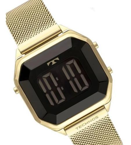 Relógio Technos Digital Feminino Dourado Bj3851aj/4p