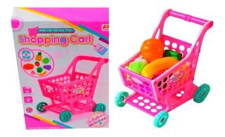 Juguete Niñas Carrito De Compras Con Frutas Supermercado