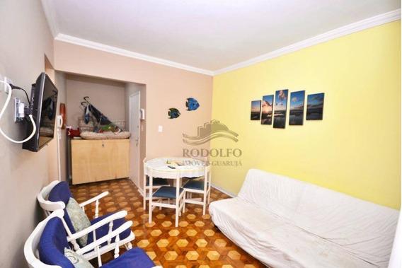 Apartamento A Venda Guarujá Pitangueiras 2 Dormitórios, 1 Vaga No Prédio. - Ap0967
