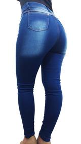 Kit 03 Calças Jeans Femininas Diversas Cintura Alta C Lycra
