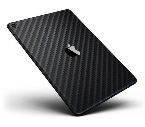 Skin Pelicula Fibra Carbono Preta Traseira Novo iPad 9.7